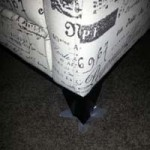 Furniture tabs under furniture feet
