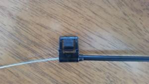Recliner plastic cable clip